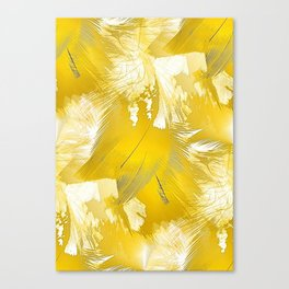 Golden Feathers Canvas Print