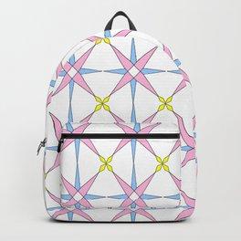 symetric patterns 45 -mandala,geometric,rosace,harmony,star,symmetry Backpack