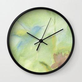 Hummingbird Selah - Sage Green Wall Clock