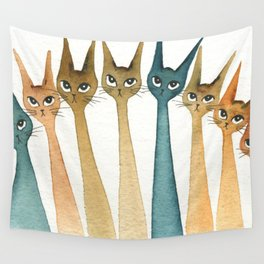 Roanoke Whimsical Cats Wall Tapestry