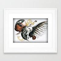 violin Framed Art Prints featuring violin by NicolasGabrielArt