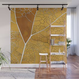 golden leaf pattern Wall Mural