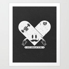Go Skate Art Print