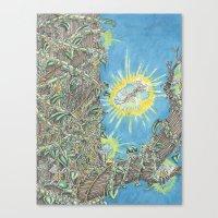 fairies Canvas Prints featuring Fairies by David Domike