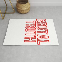 "Red and harsh tee design with text ""Brutal Truth"". Makes a unique but fab gift for everyone!  Rug"