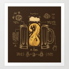 Le Beer (Elixir of Life) Art Print