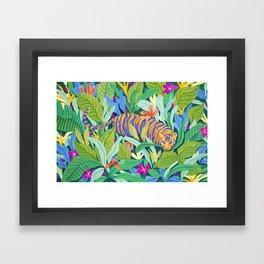 Colorful Jungle Framed Art Print