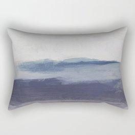 Plum Purple Navy Lavender Blue Abstract Painting Wall Art Prints, Ocean Waves Horizon, Modern Wall Rectangular Pillow