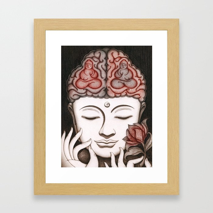 How meditation changes your brain... and makes you wiser? Framed Art Print