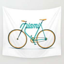 Miami Typo - Bike Wall Tapestry