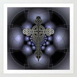 Celtic steel cross Art Print