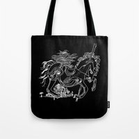 catcher in the rye Tote Bags featuring The Catcher In The Rye by Jeremy Jon Myers