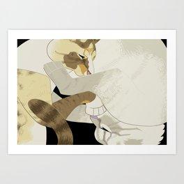 Gourdie and Pumpkin Art Print