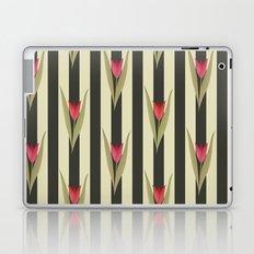 Spring flowers. Tulips are red. Retro. Laptop & iPad Skin