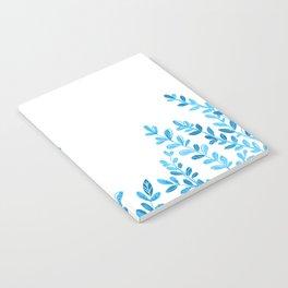 Blue Leaves Notebook