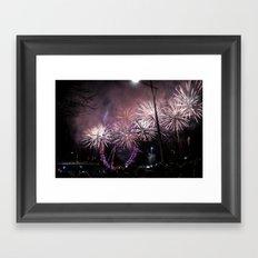 London Eye & Fireworks II Framed Art Print