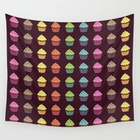 cupcake Wall Tapestries featuring Cupcake by GBmorgana
