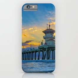 Colors Over Huntington Beach Pier at Sunset iPhone Case