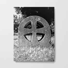 Teutonic  gravestone Metal Print