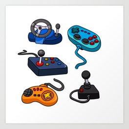 Video Game  Controls Art Print