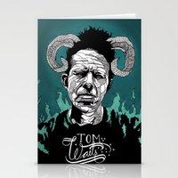 tom waits Stationery Cards featuring Tom Waits by Linnéa Ek