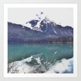 Morning Paddle on Emerald Lake, BC Art Print
