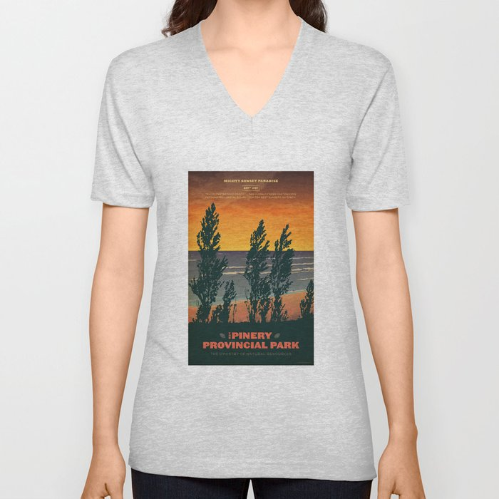 pinery provincial park poster unisex v neck - Pinery Christmas Trees