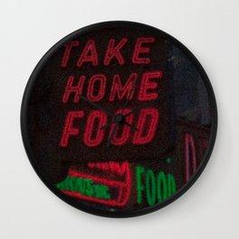 Take Home Food Wall Clock