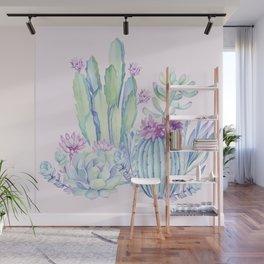 Mixed Cacti Pink #society6 #buyart Wall Mural