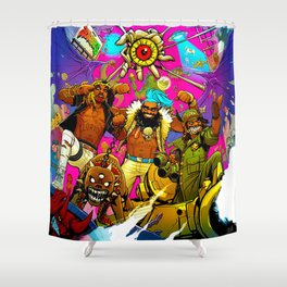 Flatbush Zombies poster 2 Shower Curtain