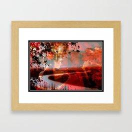 Where the River Bends. Framed Art Print