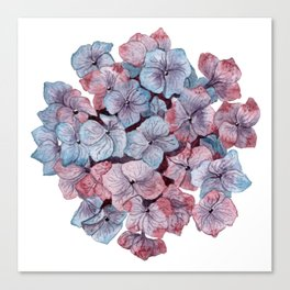 Purple Hydrangea Watercolor Canvas Print