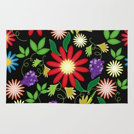 Abstract floral ornament Rug