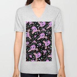 Do Whatever You Want Textile Print Unisex V-Neck
