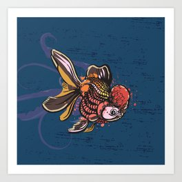 Goldfish Prosperity Art Print
