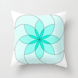 green abstract fractal Throw Pillow
