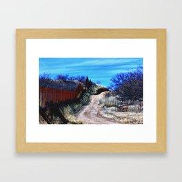 Border Fence Two Framed Art Print
