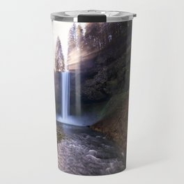 Sun Star Over South Falls Travel Mug