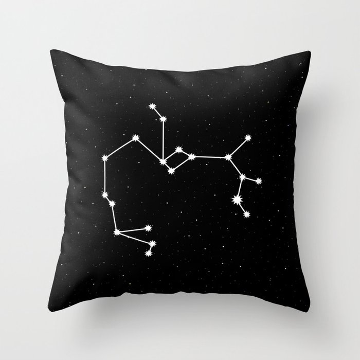 Sagittarius Astrology Star Sign Night Sky Throw Pillow
