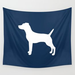 Jack Russell (Navy/White) Wall Tapestry