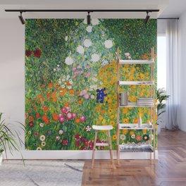 """Gustav Klimt """"Flower garden"""" Wall Mural"""