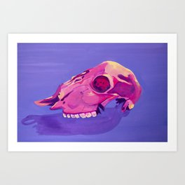 Purple Desert Skull Art Print