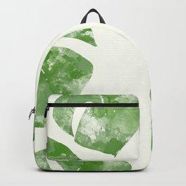 Monstera Deliciosa Watercolor Backpack