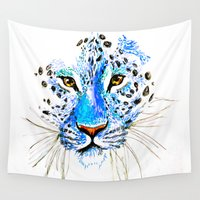 cheetah Wall Tapestries featuring Cheetah by Clairenisbet