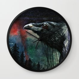 Flying Over the Forest Wall Clock