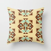 southwest Throw Pillows featuring Southwest by S. Vaeth