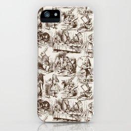 Alice in Wonderland | Toile de Jouy | Brown and Beige iPhone Case