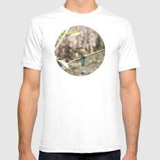 Rainforest Bird White MEDIUM Mens Fitted Tee