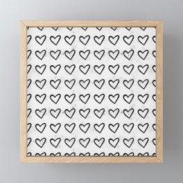Big Heart Ink Pattern Framed Mini Art Print
