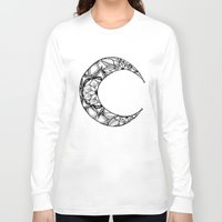 henna Long Sleeve T-shirts featuring Henna Moon by Ava Elise
